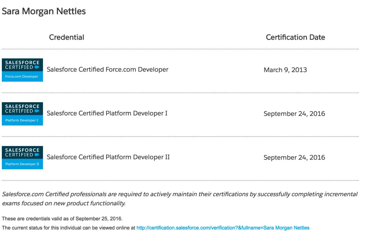 Passed The Salesforce Platform Developer I And Ii Transition Exam
